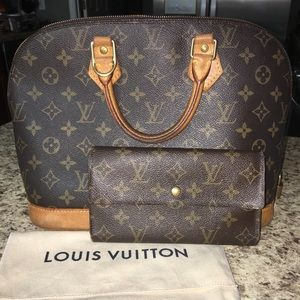 Authentic Louis Vuitton alma bag and wallet